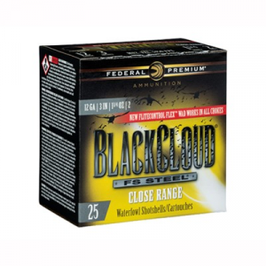 "Federal Black Cloud Close Range Ammo 12 Gauge 3"" 1-1/4 Oz #2 Steel Shot"