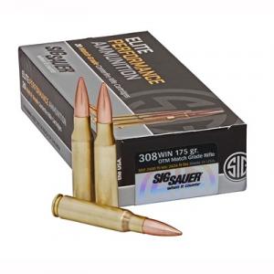 Sig Sauer Elite Match Grade Ammo 308 Winchester 175gr Open Tip Match