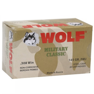 Wolf Polyformance Ammo 308 Winchester 145gr Fmj