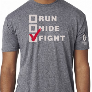 Victory First/Victory Wear Men's Run, Hide, Fight! T-Shirts
