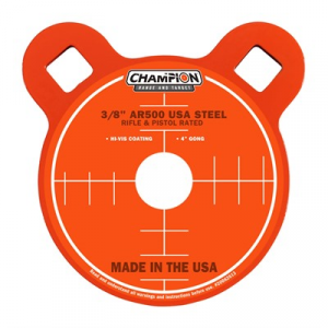 "Champion Targets Center Mass 3/8"" Round Ar500 Steel Targets"