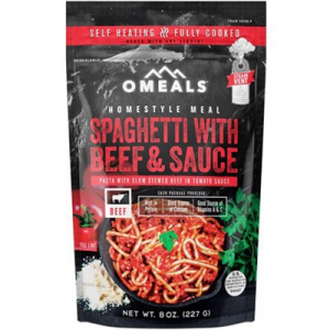 Omeals Premium Outdoor Foods Spaghetti With Beef And Sauce Homestyle Meal