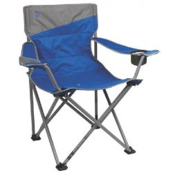 Coleman Quad Oversized Chair, Cell Phone Sleeve, Side Media Sleeve, Weight Capacity 600 lb, Blue
