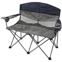 Stansport Apex Double Camp Chair, Navy/Grey, 39x18x36.5 H, Capacity 400 lbs,Weight 17.5 lbs