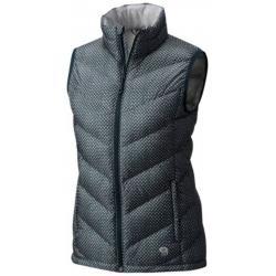 Mountain Hardwear Ratio W Down Vest-Blue Spruce Pri, Blue Spruce Print, S