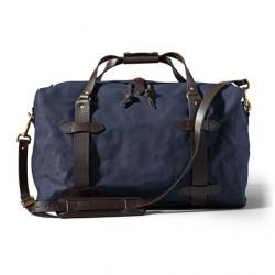 Filson Medium Rugged Twill Duffle Bag, Navy, One Size,  - Brass
