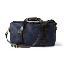Filson Small Duffle Bag, Navy, One Size,  - Brass
