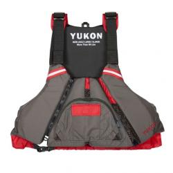 Yukon Charlie's Epic Paddle Life Vest, Carbon / Deep Red, Small/Medium