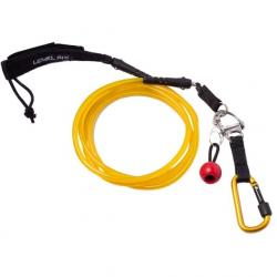 Level Six Quick Release Straight SUP Leash, Yellow