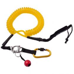 Level Six Quick Release Coil SUP Leash, Yellow