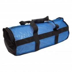 National Geographic Clamshell Deluxe Drawstring 2Pocket Duffle-Blue/Blk, MSH-DF-DX-2PKT-BL/BK