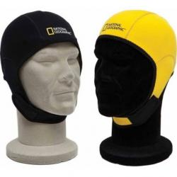 National Geographic Reversible Beanie Hood, Black/Yellow, Small
