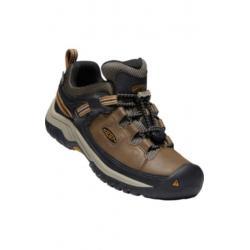KEEN Targhee Low Waterproof Hiking Shoe - Kids, Dark Earth/Golden Brown, 1 US