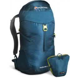 Montane Featherlite 30 Pack-Zanskar Blue/Wild Lime-S/M