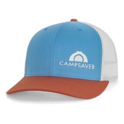 CampSaver Standard Embroidered Logo Hat, Col Blue/Birch/Dark Orange - Cream Logo, One Size
