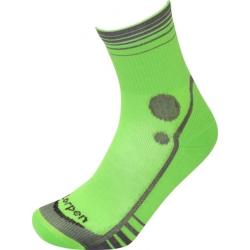 Lorpen T3 Running Mid Crew Socks - Men's, Green/Charcoal, Large