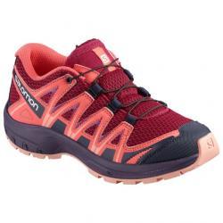 Salomon XA PRO 3D Trail Running Shoe - Kids, Cerise/Dubarry/Peach Amber, Medium, 5