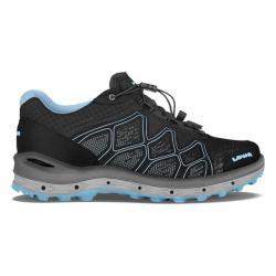 Lowa Aerox GTX Lo Surround Hiking Boots - Women's, Black/Ice Blue, 8