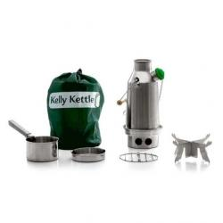 Kelly Kettle Stainless Small Trekker - Basic Kit-Stainless Steel