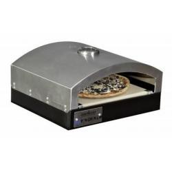 Camp Chef 14inX16in Italia Artisan Pizza Oven Accessory, Black/Silver