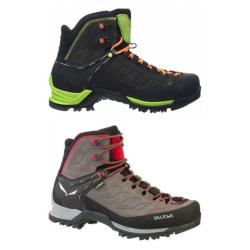 Salewa MTN Trainer Mid GTX Men's Backpacking Boots, Charcoal/Papavero, 7 US
