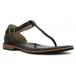 Bogs Women's Memphis Thong Sandal, Black, Size 6.5