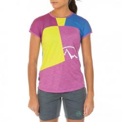La Sportiva Push T-Shirt - Women's, Purple/Apple Green, Large