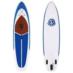 Airhead Cruise 1030 Inflatable Stand Up Paddleboard, Blue/White, 1 Year Mfg Warranty, PVC / Nylon