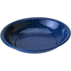 GSI Blue Enamel Cereal Bowl, 8in, Blue, Enameled Steel, 2 Year MFG Warranty