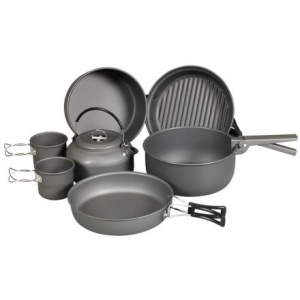 9 piece cookware mess kit with kettle- Save 28% Off - Shop NDuR 9 Piece Cookware Mess Kit with Kettle-22900 with Be The First To Review  + Free Shipping over $49.