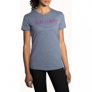 run happy smile t-shirt - women's- Save 20% Off - Shop Brooks Run Happy Smile T-Shirt - Women's-221190441, 221190009 with Be The First To Review  + Free Shipping over $49.