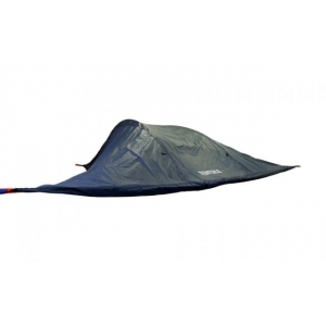 tentsile stingray tree tent 3 season 3 person-dark grey- Save 20% Off - Tentsile Tents Camp & Hike Tentsile Stingray Tree Tent 3 Season 3 Person-Dark Grey 100400. k.a. portable treehouse) that offers users a uniquely communal and comfortable outdoor experience away from inhospitable ground ground based insects snakes or other predators. SLEEPS UP TO 6 PEOPLE The Stingray comprises a spacious triple hammock interior covered in a rip resistant insect mesh. It is accessed via a floor hatch in the center or via the large front door. It can be suspended between 3 trees or other large objects like columns trucks or boulders. It features a removable flysheet (in a range of colors) for unbeatable views. The rainfly can be pegged outwards to the ground creating a large 160 sq ft / 14 sq m of covered porch area. The Stingray tree tent can also become a multi-story camping base by adding 3 standard hammocks (not included) to the 3 corner D-rings. This way you can have 3 adults in the tent above and three more in the hammocks below - you can have an enormous amount of space over two levels. The flysheet flaps can be rolled and toggled out of the way but can also be folded under the tent and hooked to the central hatch thus creating a 2nd wind break and an 3.15 in / 8 cm thermal buffer of air to the underside of each hammock.