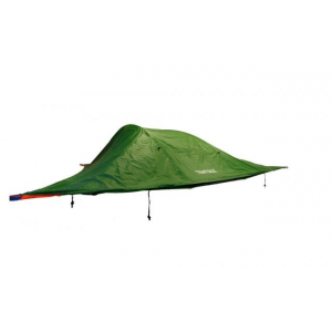 tentsile stingray tree tent 3 season 3 person-forest green- Save 20% Off - Tentsile Tents Camp & Hike Tentsile Stingray Tree Tent 3 Season 3 Person-Forest Green 100100. k.a. portable treehouse) that offers users a uniquely communal and comfortable outdoor experience away from inhospitable ground ground based insects snakes or other predators. SLEEPS UP TO 6 PEOPLE The Stingray comprises a spacious triple hammock interior covered in a rip resistant insect mesh. It is accessed via a floor hatch in the center or via the large front door. It can be suspended between 3 trees or other large objects like columns trucks or boulders. It features a removable flysheet (in a range of colors) for unbeatable views. The rainfly can be pegged outwards to the ground creating a large 160 sq ft / 14 sq m of covered porch area. The Stingray tree tent can also become a multi-story camping base by adding 3 standard hammocks (not included) to the 3 corner D-rings. This way you can have 3 adults in the tent above and three more in the hammocks below - you can have an enormous amount of space over two levels. The flysheet flaps can be rolled and toggled out of the way but can also be folded under the tent and hooked to the central hatch thus creating a 2nd wind break and an 3.15 in / 8 cm thermal buffer of air to the underside of each hammock.