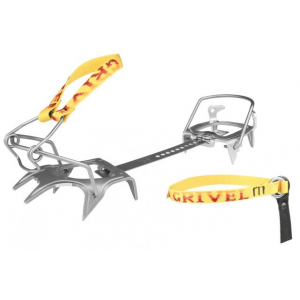 grivel skimatic 2.0 ski boot crampons - ski race- Save 10% Off - Grivel Alpine & Ice Climbing Skimatic 2.0 Ski Boot - Ski Race 756663. 0 binding solves the problem of fitting modern ski boots where the rear 'walking adjusment' on the boots interferes with the closure of the crampon. The innovative and low-profile tow leaver bail locks solidly in place. Ski Tour crampon has steel front points with light weight alloy heal. The ultralight Ski Race crampon has alloy front points and alloy heal. Includes crampon storage bag.
