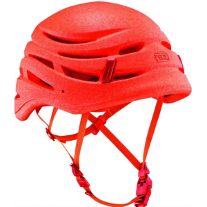 petzl sirocco climbing helmet-1- Save 15% Off - Petzl Climb Sirocco ing Helmet-1 A731O. The monobloc construction minimizes helmet weight while retaining excellent impact resistance due to the mechanical properties of expanded polypropylene (EPP). The textile adjustment system also contributes to its lightness. This helmet comes with a new magnetic buckle which allows the chinstrap to be attached with one hand. The SIROCCO helmet also has excellent ventilation distributed around the helmet.
