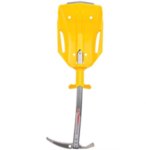 grivel steel blade shovel - yellow- Save 10% Off - Grivel Avalanche Safety Steel Blade Shovel - Yellow SHSBLAYEL. It is very light: only 398 grams. It is multi functional: works great in limited space such as the bottom of a hole or the inside of a snow cave. It works with an ice axe as a shovel handle. It is easy to fix to the outside of a backpack for emergency use. Optional shovel handle is also available.