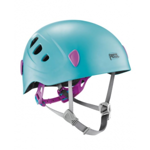 petzl picchu kid's helmet-blue- Save 15% Off - Petzl Climb Picchu Helmet-Blue mpn23095. It is very light and comfortable and constructed for durability. For night use the PICCHU has a mount on the back of the helmet specially designed for attaching the SiGNAL red signalization light (sold separately). Three pages of stickers with one refl ective page are included so that the helmet can be personalized and made more visible.