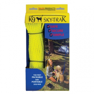 omega pacific k-9 sky-trak dog run- Save 9.% Off - Omega Pacific Camp & Hike K-9 Sky-trak Dog Run TAPTKIT. All you need is a pair of trees posts or other anchor points to build the world's only portable packable dog run Just stretch a line between two anchor points to assemble the kit and when you attach your dog it can be part of the action while remaining safely tethered. Other kits feature heavy cables that require more permanent installations but the K9 Sky-Trak is fast temporary and secure... and it won't damage mar or alter the anchor points Perfect for the week-long backpacking trips or weekend camping trips. Each kit includes: