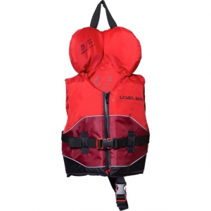 level 6 kid's stingray pfd-red-infant- Save 25% Off - Level 6 Paddle Kid's Stingray PFD-Red-Infant GBTSTINRedInfant. The PFD is made from a durable and quick drying Nylon fabric with reflective piping. The strap adjustment system is incorporated into the PFD so there is no bunching or pulling while providing a secure custom fit.