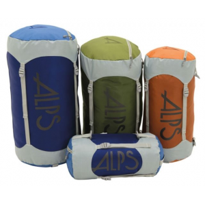 alps mountaineering compression stuff sack-large- Save 43% Off - ALPS Mountaineering Backpack Accessories Compression Stuff Sack-Large 7360003. Each Compression Stuff Sack comes equipped with a zippered pocket on the top lid to keep small items separate and easy to get to. The straps connect the bottom and top lid so you can cinch down the top as much or as little as you need to adjust the length depending on what you are carrying on each trip.