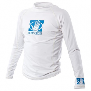 body glove junior fitted long sleeve rashguard-white-8- Save 23% Off - Body Glove Kid's Junior Fitted Long Sleeve Rashguard-White-8 735115. Made from polyester/spandex with flatlock stitching. UV protection.