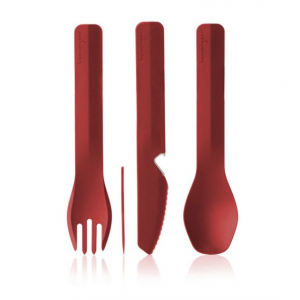 human gear gobites utensil, trio with case, red- Save 0.% Off - Human Gear Camp & Hike Gobites Utensil Trio With Case Red HG0423.