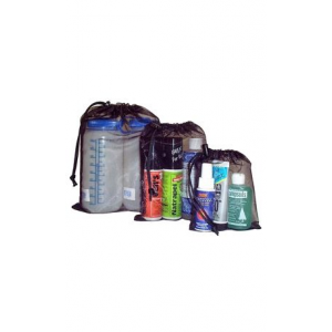 equinox no-see-um mesh bag 7''x9''- Save 10% Off - Equinox Travel No-see-um Mesh Bag 7''x9'' MFG017. Mesh construction makes it easy to identify the contents. Microcord drawstring and mini cordlock.