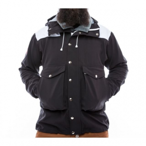the american mountain co. no. 907 high-altitude hardshell jacket - men's-black-small- Save 26% Off - The American Mountain Co. No. 907 High-Altitude Hardshell Jacket - Men's-Black-Small. 907 High-Altitude Hardshell Jacket provides a storm ready refuge for high altitude expeditions by bringing together the most advanced components while adhering to uncompromising standards of quality and classic design. The Schoeller c-change textile with a robust outer face combines unparalleled breathability waterproof protection and durability. The soft hand of the textile is quiet while the two-way stretch and meticulous fit allow for unmatched freedom of movement. The No. 907 features a helmet compatible hood double layer shoulders and elbows for increased durability and double adjustment point draw cord waist closure. This hardshell was created to meet the most extreme and demanding conditions you will encounter in the mountains.