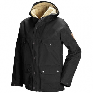 fjallraven greenland winter jacket - women's-black-large- Save 33% Off - Fjallraven Women's Apparel Clothing Greenland Winter Jacket - Women's-Black-Large F82213. Hip-length model with straight cut made with G-1000 fabric which makes it both durable and wind and water resistant. Fixed hood. 2-way zipper with buttons. Adjustable hem and sleeve cuffs. Two breast pockets two large 2-way pockets with flaps and an inner pocket.
