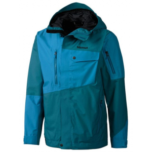 marmot boot pack jacket - men's -dark sea/dark atomic-medium- Save 52% Off - Marmot Men's Apparel Clothing Boot Pack Jacket - Men's -Dark Sea/Dark Atomic-Medium. Turbo-charged with Marmot's NanoPro two-layer waterproof breathable fabric and 100 percent seam-taped construction this jacket delivers the utmost protection in heinous conditions. Other alluring features include an attached helmet-compatible hood powder skirt and hordes of pockets.