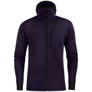 black diamond coefficient fleece hoody - men's, nightshade, extra large- Save 42% Off - Black Diamond Men's Apparel Clothing Coefficient Fleece Hoody - Men's Nightshade Extra Large. With a redesigned fit it's ideal for going lighter. A midlayer for anything from ski tours to alpine ascents the CoEfficient Hoody features Polartec Power Dry fleece with a gridded interior for increased wicking performance and added breathability. The under-the-helmet hood and full-length zipper let you regulate temperature on the go so you don't find yourself overheating a half hour into the day. A slim cut helps the CoEfficient Hoody fit comfortably under your shell and with a redsigned trim fit this layer takes up little space in your pack.