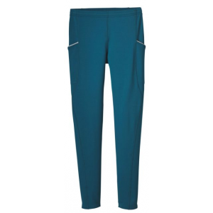 patagonia borderless tight - men's-deep sea blue-x-large-regular inseam- Save 33% Off - Patagonia Men's Bottoms Borderless Tight - Men's-Deep Sea Blue-X-Large-Regular Inseam 23995DSEXL. The devout get out all winter in all conditions and Patagonia's newest cold-weather running tights use a unique fiber that delivers extraordinary stretch with a comfortable unrestrictive feel. A favorite of our endurance testers the Patagonia Borderless Tights also wick breathe and remain supportive. They excel as stand-alone tights yet slide easily under overlayers when the temps drop to desperate but the trails still call. Gusseted construction further enables your range of motion and the brushed elastic waistband stays comfy with a flat internal drawcord. A center-back security pocket closes with a zipper and the stretch drop-in pockets at the hips have reflective bindings. With a reflective logo at left hip and Polygiene permanent odor control.