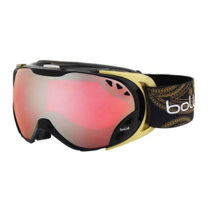 bolle duchess ski/snowboard goggles,shiny black and gold frame,vermillon gun lens- Save 13% Off - Bolle Duchess Ski/Snowboard Gogglesshiny Black and Gold Framevermillon Gun Lens.