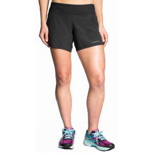 brooks chaser 5 inch running short - women's-black-medium- Save 25% Off -
